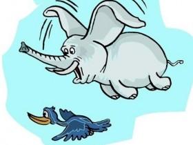 笑话段子 大象和小鸟的区别