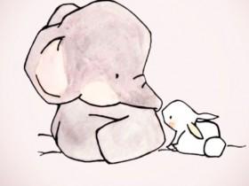 小白兔的笑话 小白兔和大象的梗后续