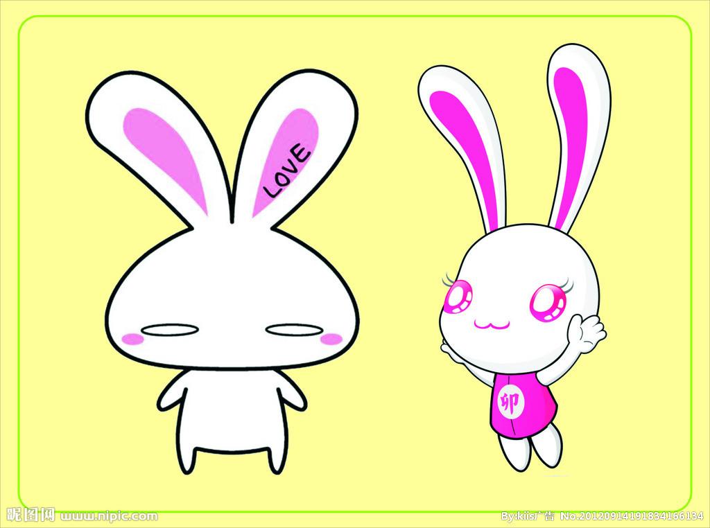 小白兔和小灰兔收大白菜
