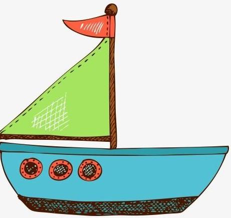 一对小小船