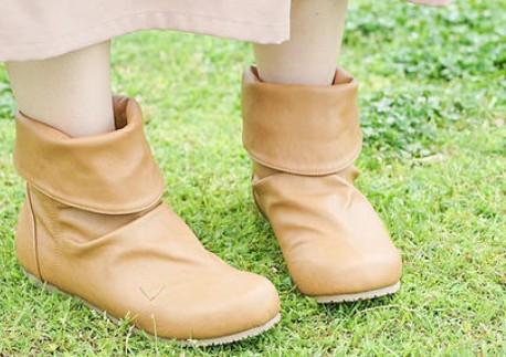 真皮高筒靴