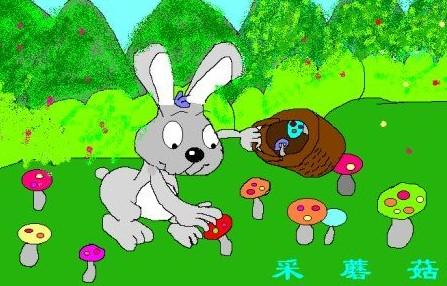 小白兔冷笑话 三个小白兔采到一个蘑菇